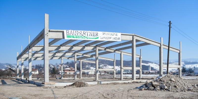 U toku je montaža AB montažne konstrukcije na proizvodno-skladišnom objektu Immobilien investment d.o.o. Ilijaš