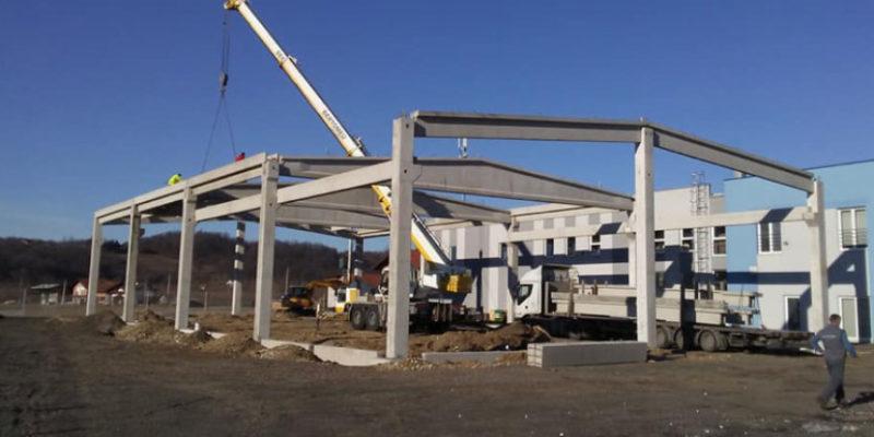 U toku je montaža skladišnog objekta Hidraulika Flex u Laktašima površine 1.120 m2